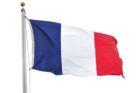 The Flag of France Isolated on a White Background