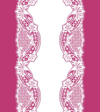 White Lace seamless pattern ribbon