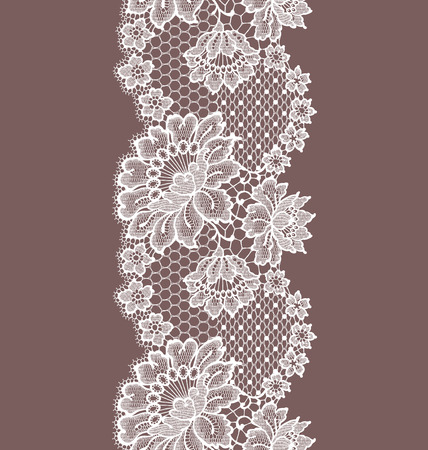 Seamless Pattern white lace ribbon