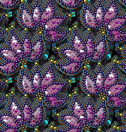 Photo pour Vector Seamless Pattern. Sequins and Beads. - image libre de droit