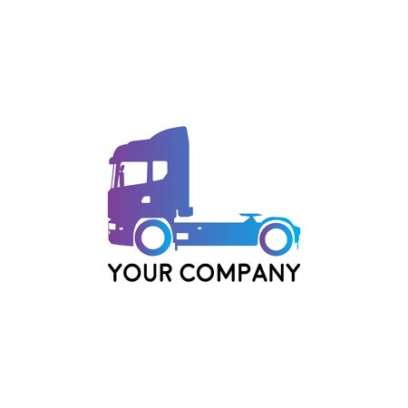 Illustration for A template of Truck Logo, cargo, delivery, Logistic - Royalty Free Image