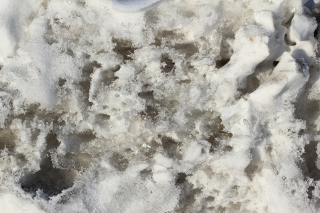 texture of dirty snow