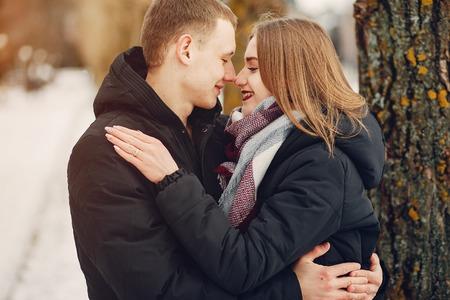 Photo for couple in a park - Royalty Free Image