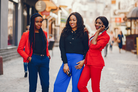 Photo for Black women in a city - Royalty Free Image