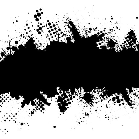 Vector - Halftone ink splat grunge background for text.