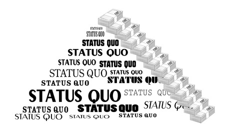 Status Quo words. A vector illustration