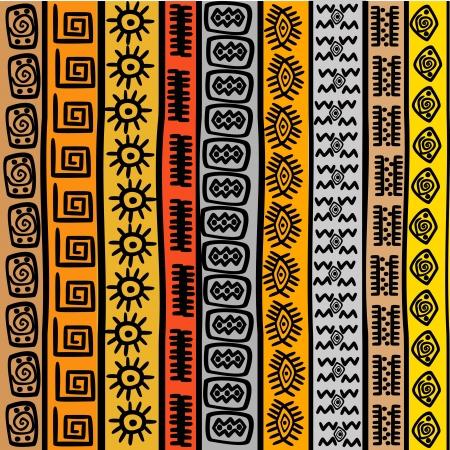 Illustration pour Seamless pattern with ethnic African motifs - image libre de droit