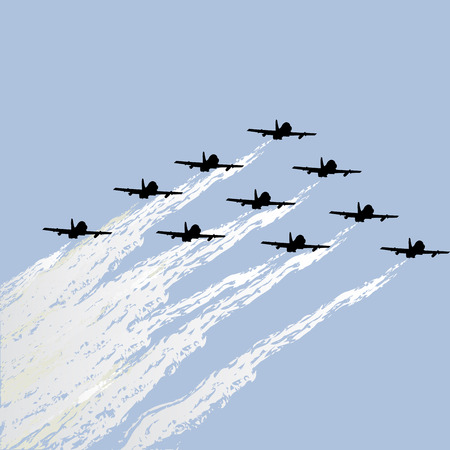 Aviation show of force jets