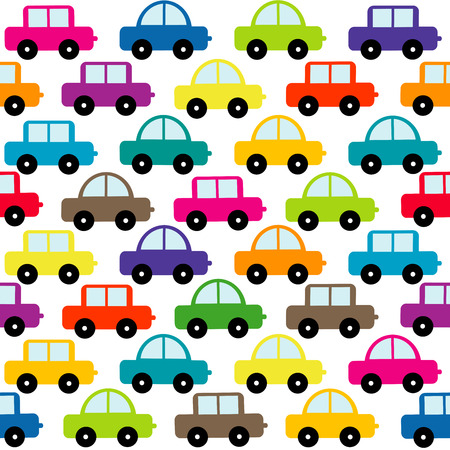 Illustration for Toy cars seamless background - Royalty Free Image