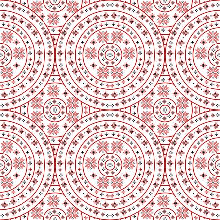 Illustration pour Handmade background with traditional ornament - image libre de droit