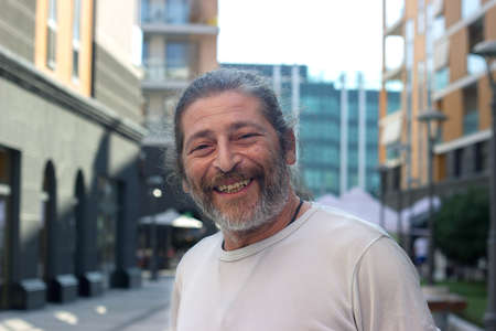 Photo for Middle aged man, looking at camera and smiling - Royalty Free Image