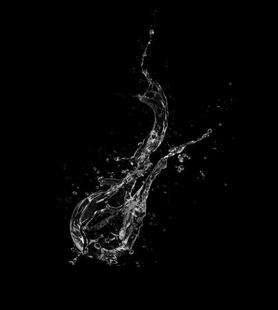 Photo pour Water splash isolated on black background. - image libre de droit