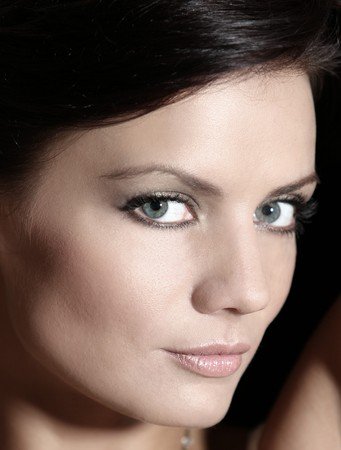 Portrait - with make up - of natural russian beauty