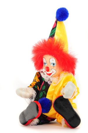A brightly clown for decoration