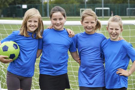 Portrait Of Girl's Soccer Team
