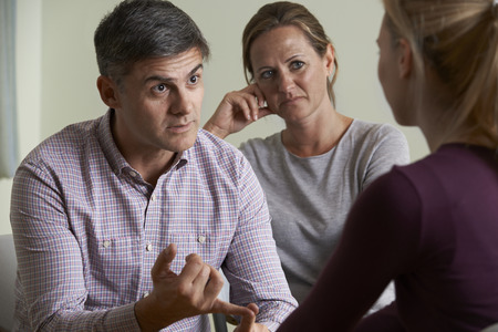 Photo for Mature Couple Talking With Counsellor - Royalty Free Image