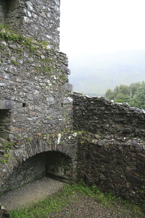 Kilchurn Castle, Ruin at the Loch Awe, in the Highlands of Scotland