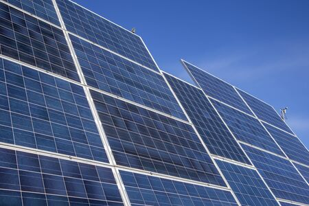 Photo for solar panels for electricity production - Royalty Free Image
