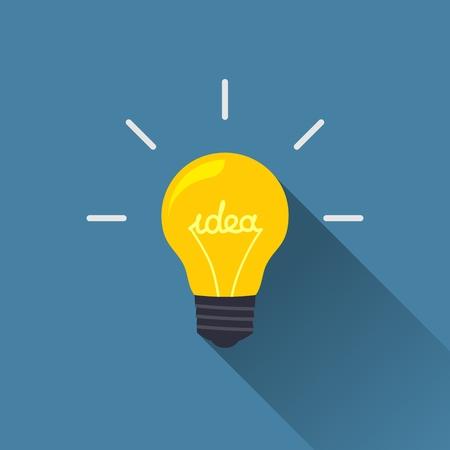 Creative idea in light bulb shape as inspiration concept  Vector design element  Flat icon