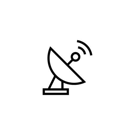 Illustration pour antenna or satellite icon design illustration in outline style design on white background - image libre de droit