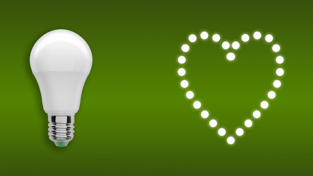 Photo for Heart of light bulbs - Royalty Free Image