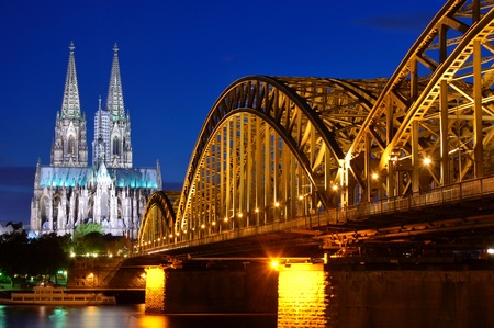 Photo for Cathedral and Hohenzollern Bridge -  Cologne/Köln, Germany - Royalty Free Image