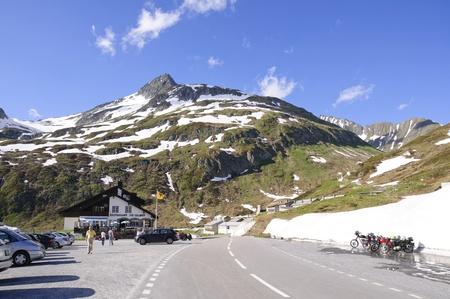 Oberalp pass in Switzerland
