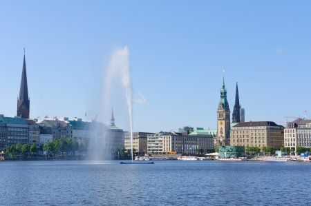 Old city of Hamburg and the Alster