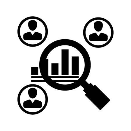 Ilustración de Market research Icon - Imagen libre de derechos