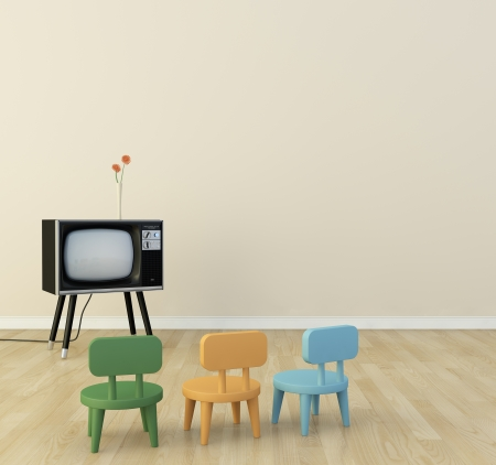 Children s room there is a television