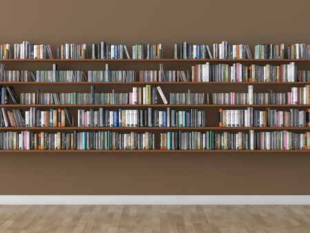 Photo pour interior bookshelf room library - image libre de droit