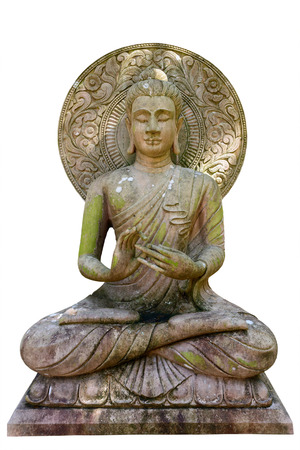 Buddha statue on white background, isolated.