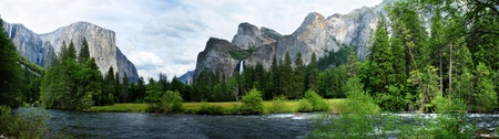 El Capitan View in Yosemite Nation Park with river in foreground