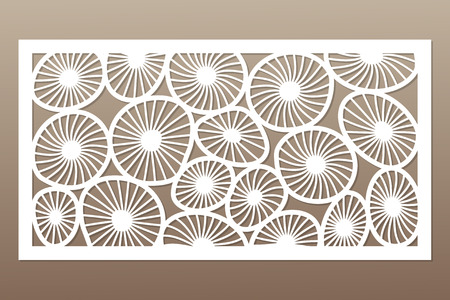 Ilustración de Template for cutting. Round art pattern. Laser cut. - Imagen libre de derechos