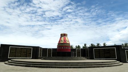 Kupiah Meukeutop Monument in Pasi Suak Ujong Kalak village in Meulaboh, Aceh Indonesia.