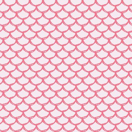 Little Mermaid Seamless Pattern Fish Skin Texture Tillable