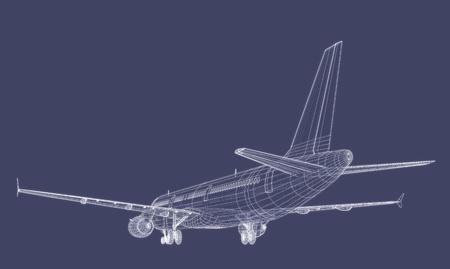 Jet Airliner Blueprint