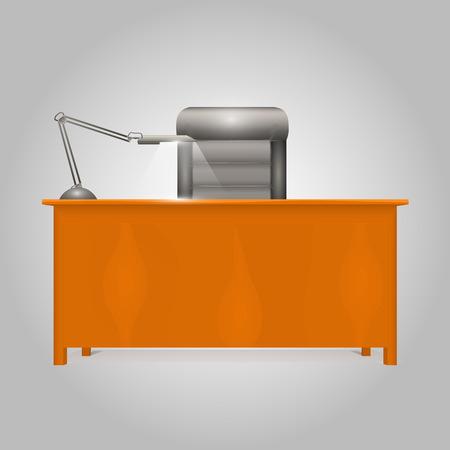Office Desk Director art object. Vector illustration