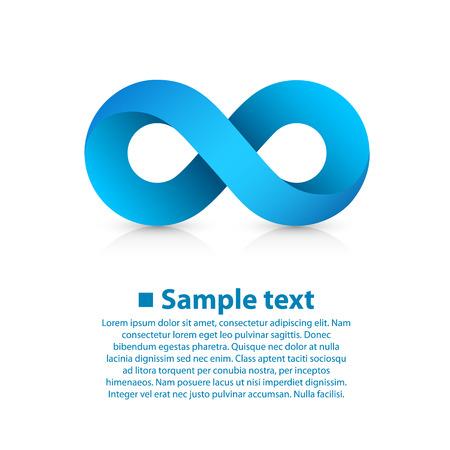 Symbol of infinity art info. Vector Illustration