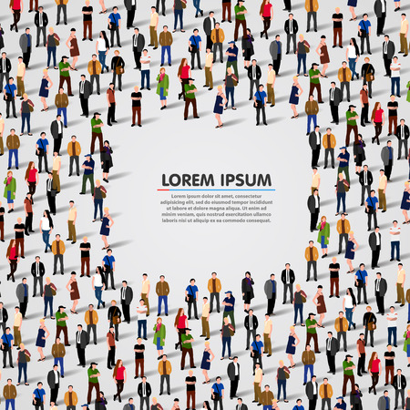 Large group of people background. Vector illustrationのイラスト素材