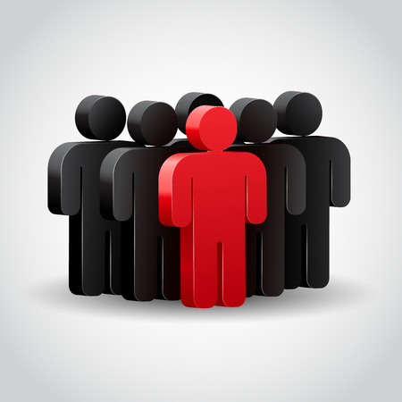 Vektor für Team leader or company boss. Concept 3D illustration - Lizenzfreies Bild