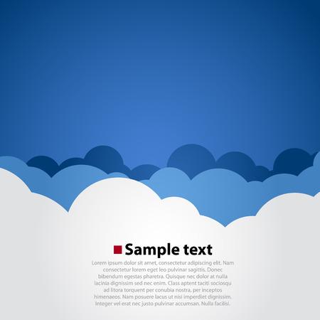 Ilustración de Cloudy sky modern background. Simple vector illustration - Imagen libre de derechos