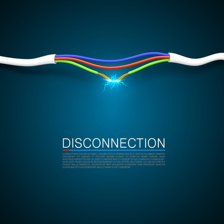 Cable break disconnect art cover.
