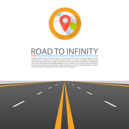 Road to infinity cover art. Vector illustration