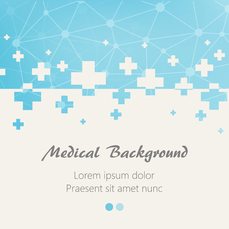 Vektor für Blue medical design background with crosses. Vector illustration - Lizenzfreies Bild