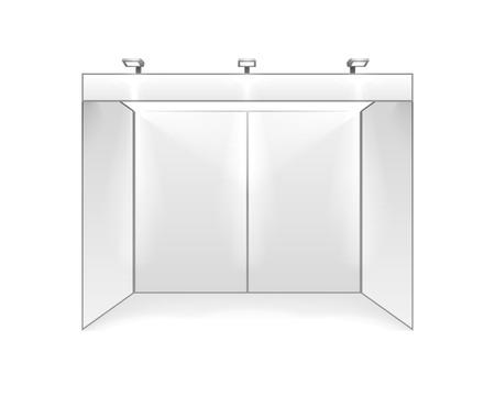 Illustration pour Scene show Podium for presentations on the gray background. Vector illustration - image libre de droit