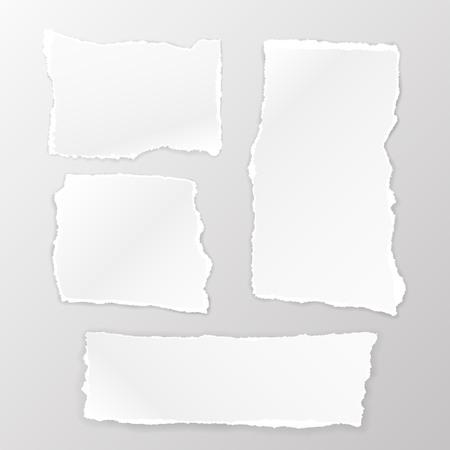 Illustration pour Torn Square paper set on the white background. Vector illustration - image libre de droit