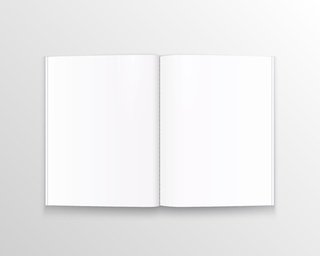 Illustration pour Open paper book with text art. Vector illustration - image libre de droit