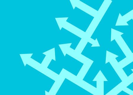 Illustration pour Arrows point in different directions. The concept of problem solving. Vector illustration - image libre de droit