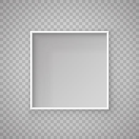 Illustration pour Open paper Square box on a transparent background. Vector illustration - image libre de droit